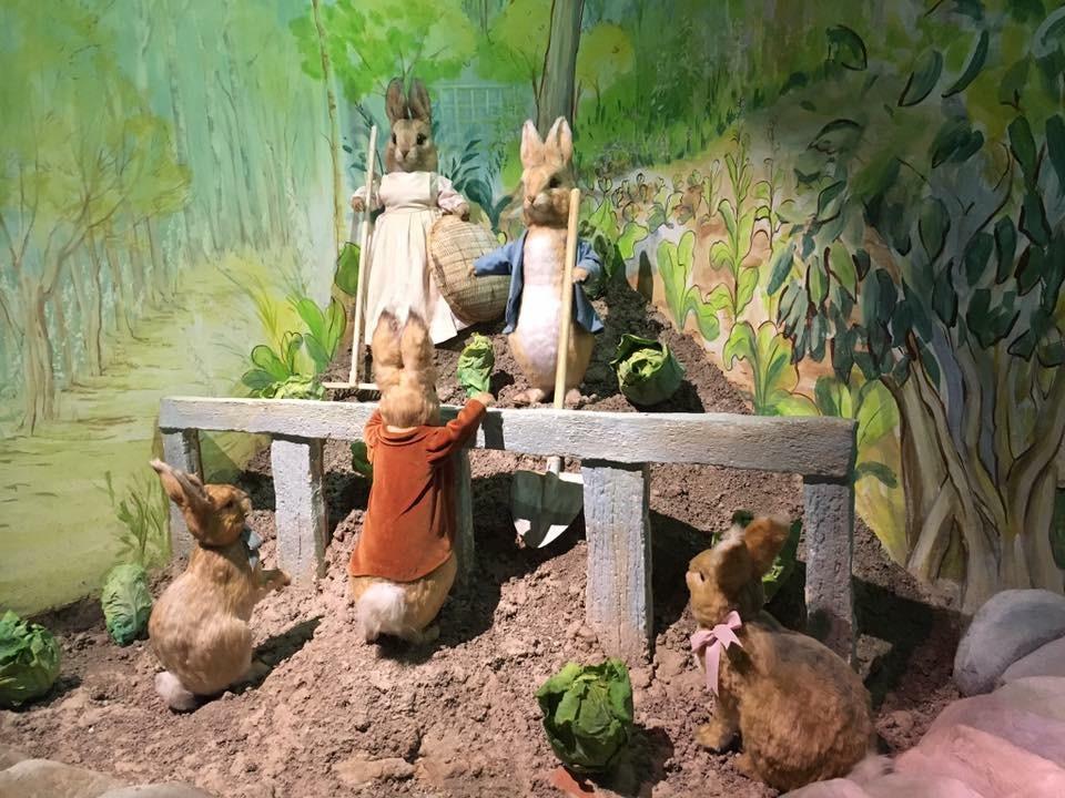 Naughty bunnies at Beatrix Potter World
