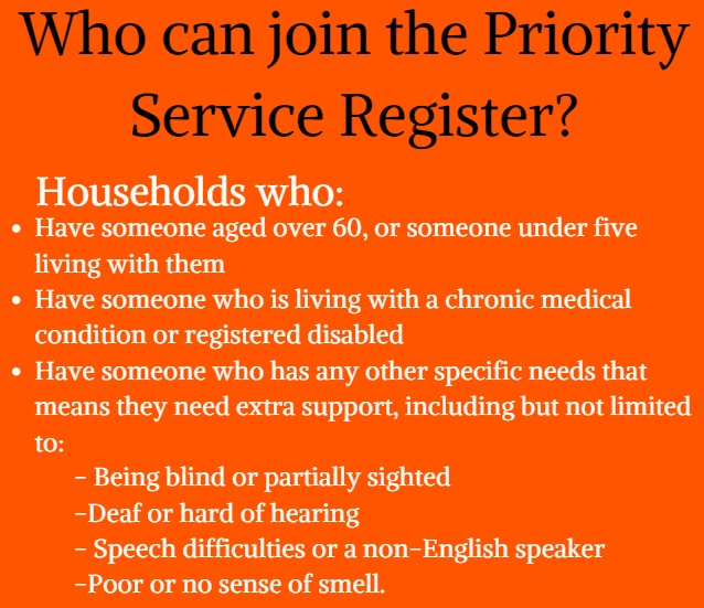 Priority service register