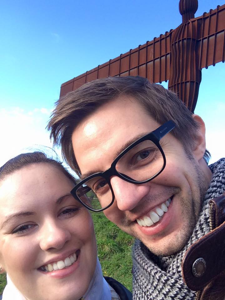 Steve and I at the Angel of the North