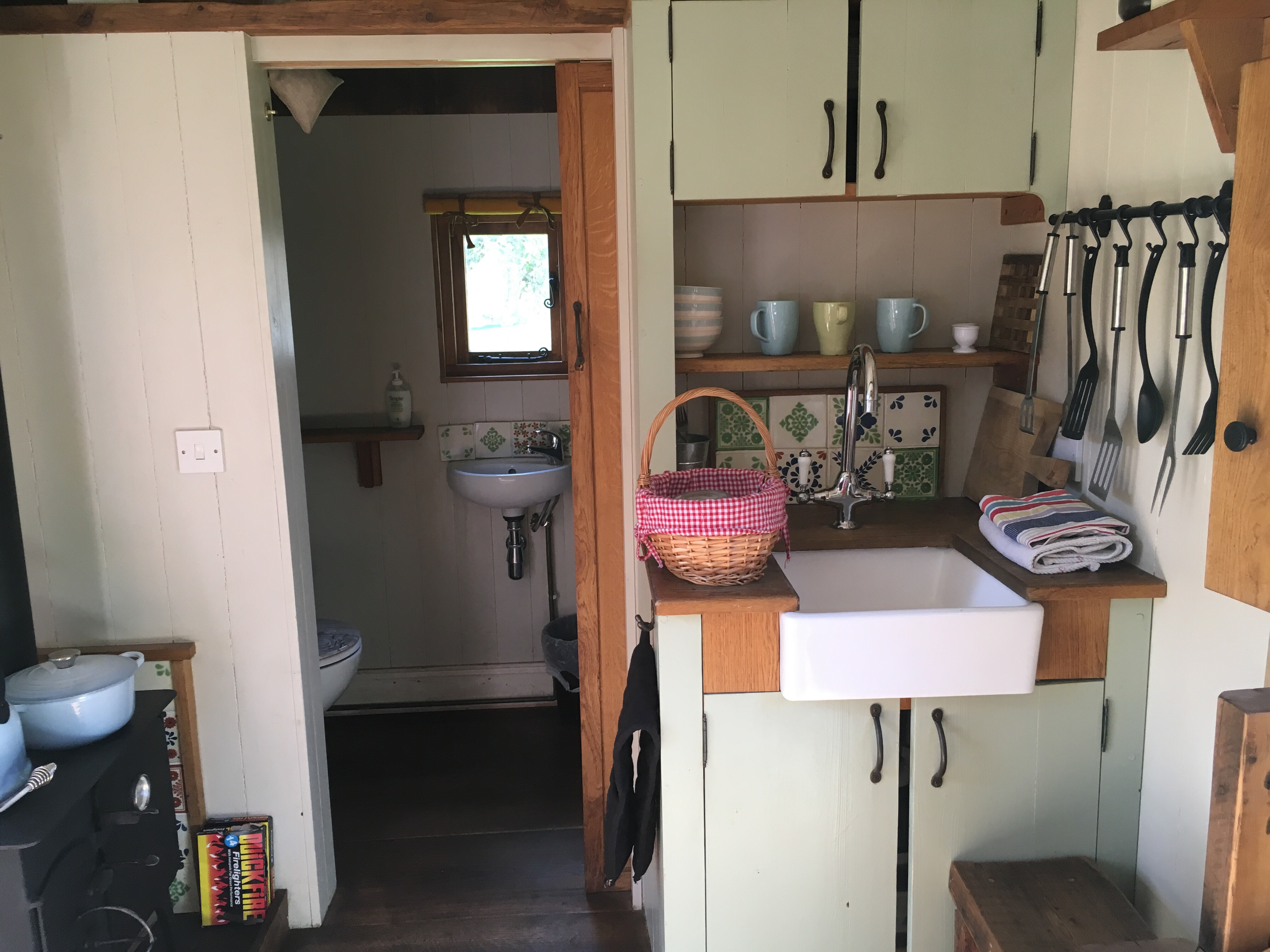 Kitchen leading to the ensuite