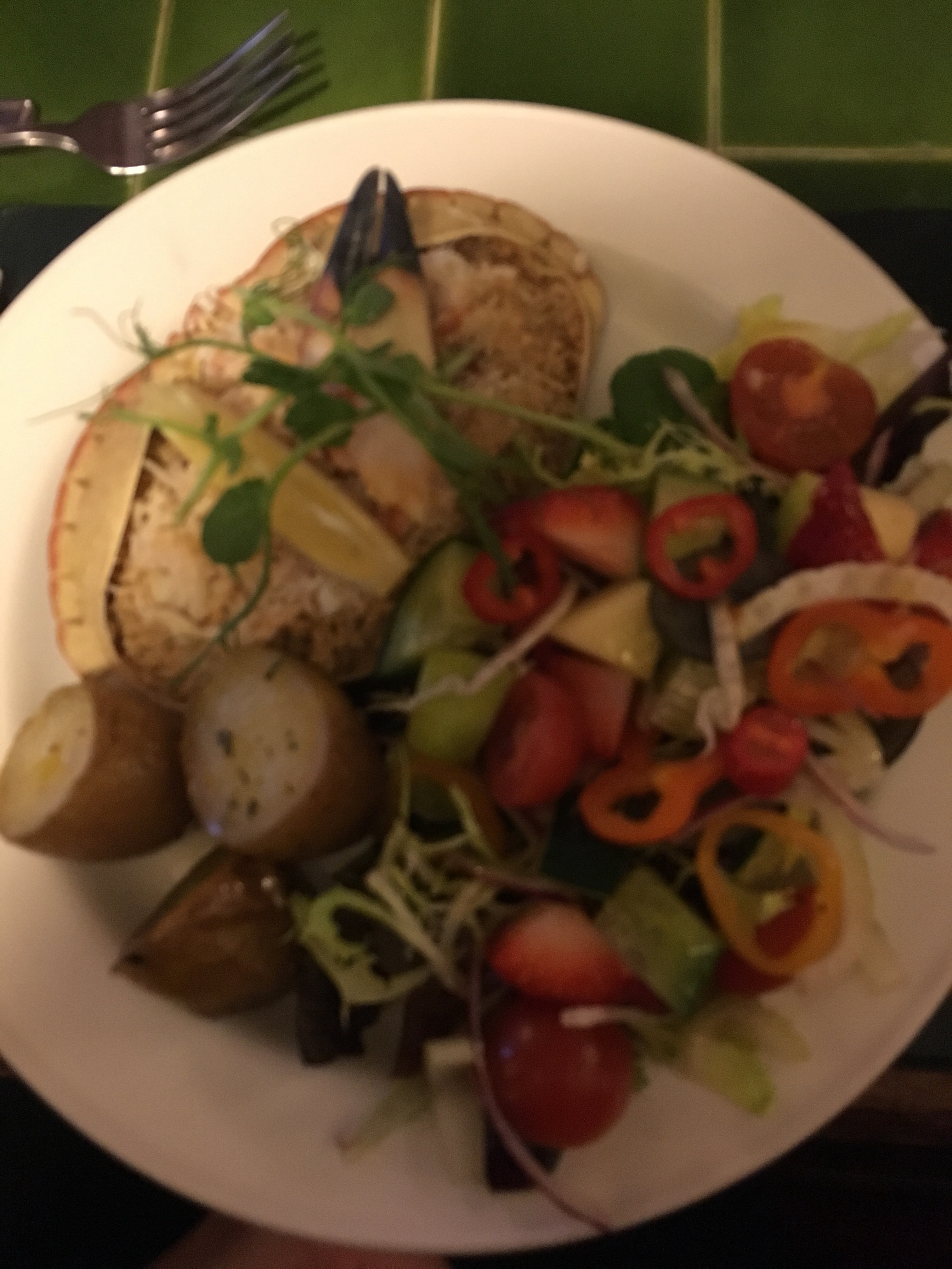 Northumberland crab with delicious salad