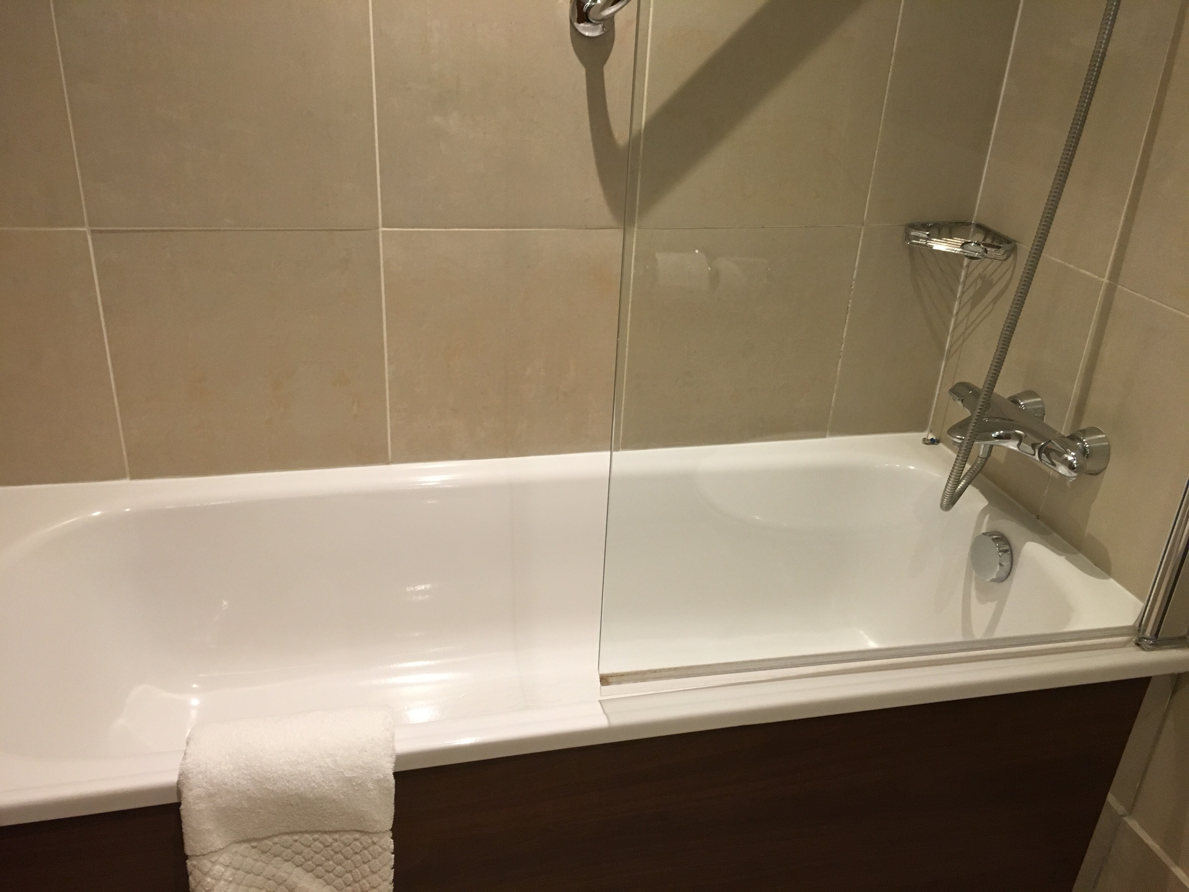 Bath and shower in our room