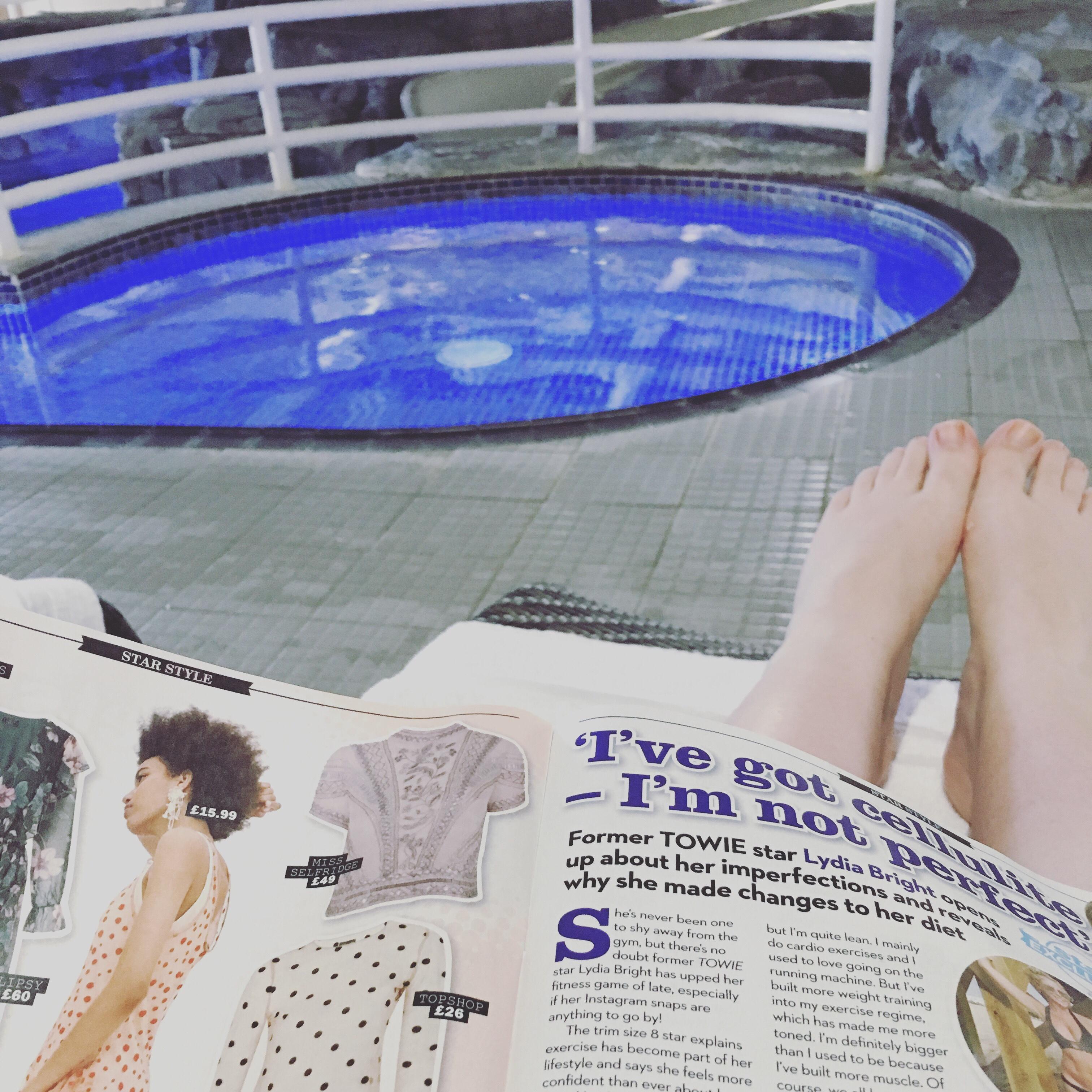 Feet up at the spa