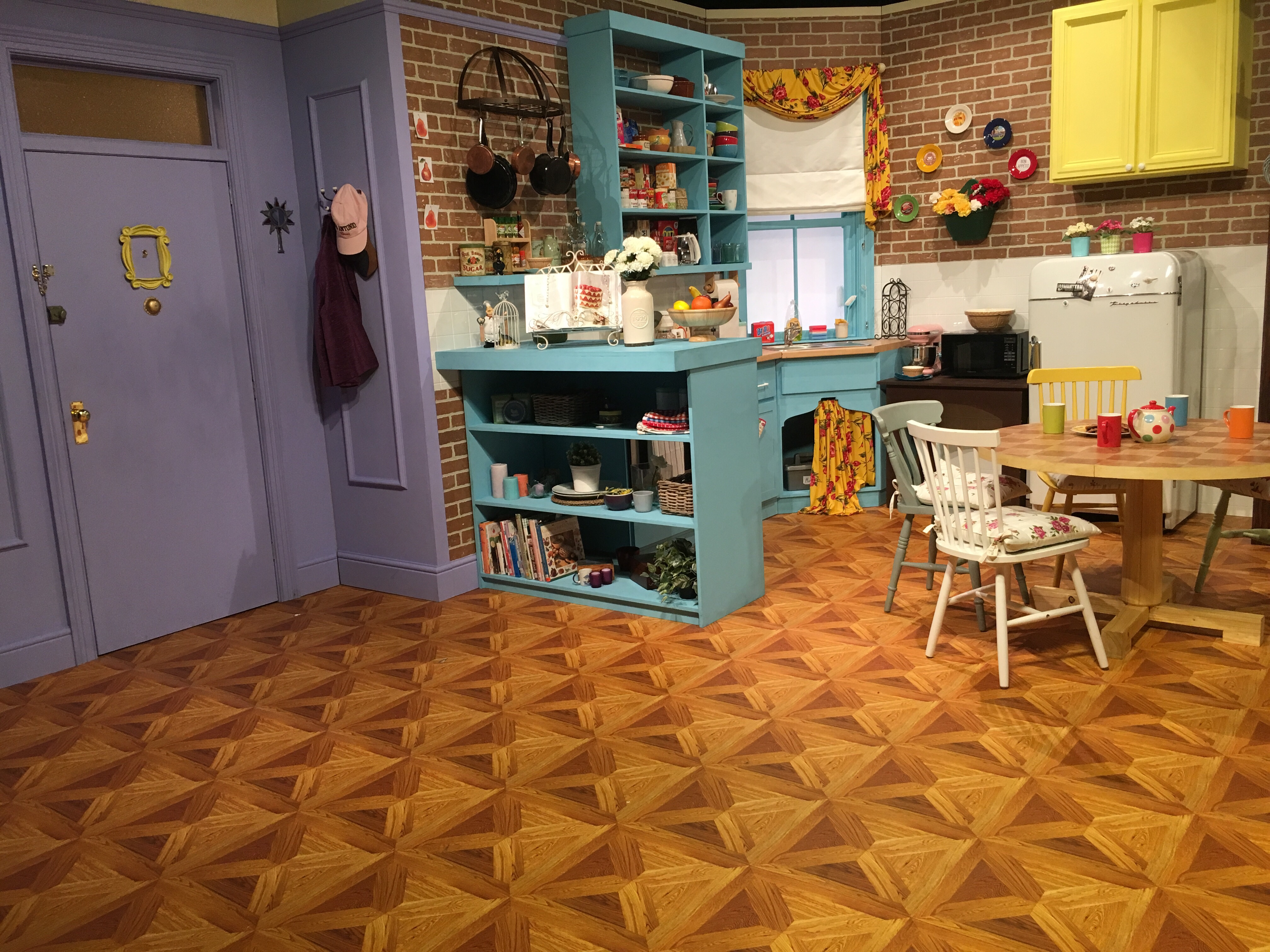 Inside Monica's apartment
