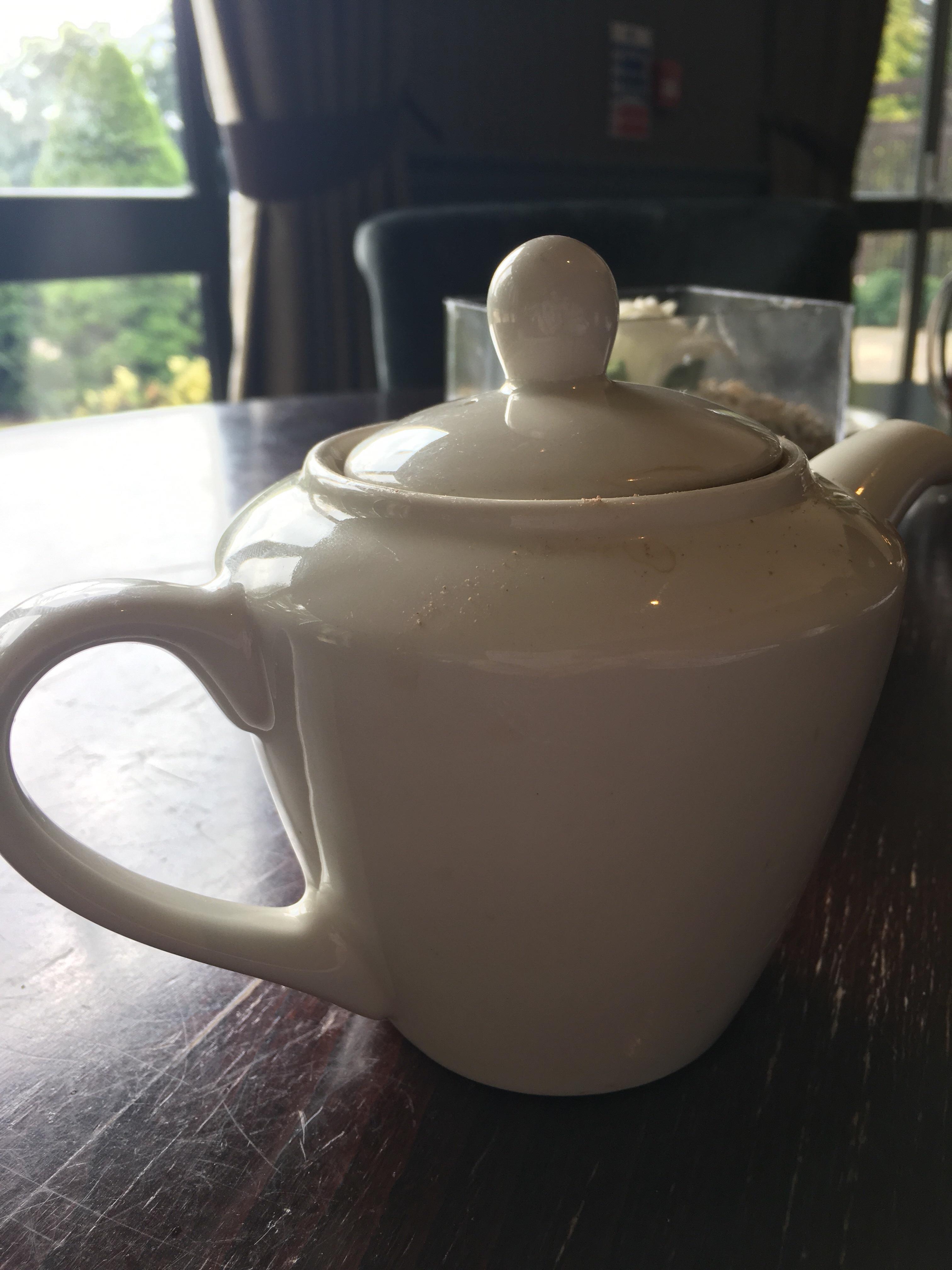 Hot chocolate in a tea pot