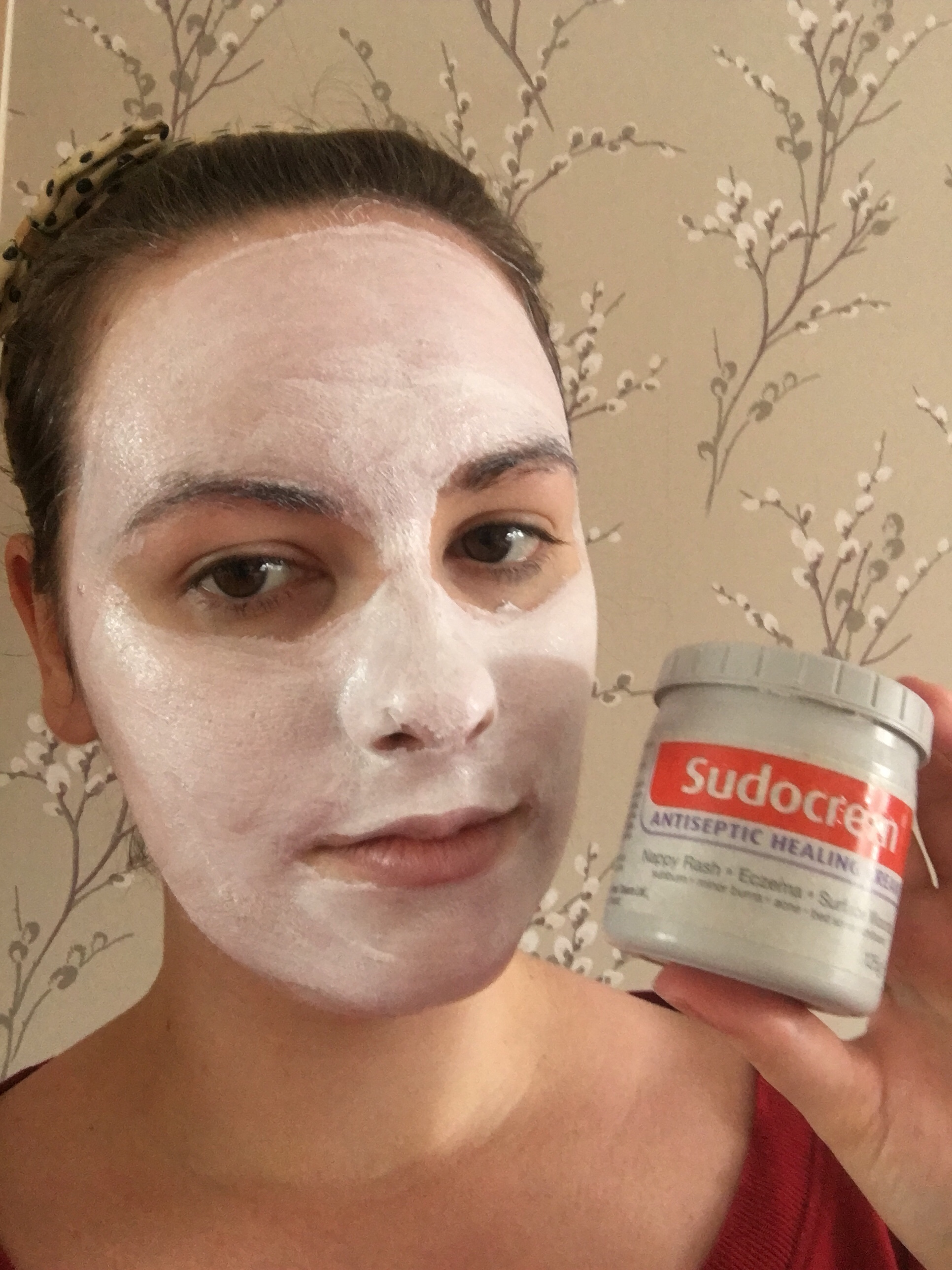 Me having a Sudocrem facemask