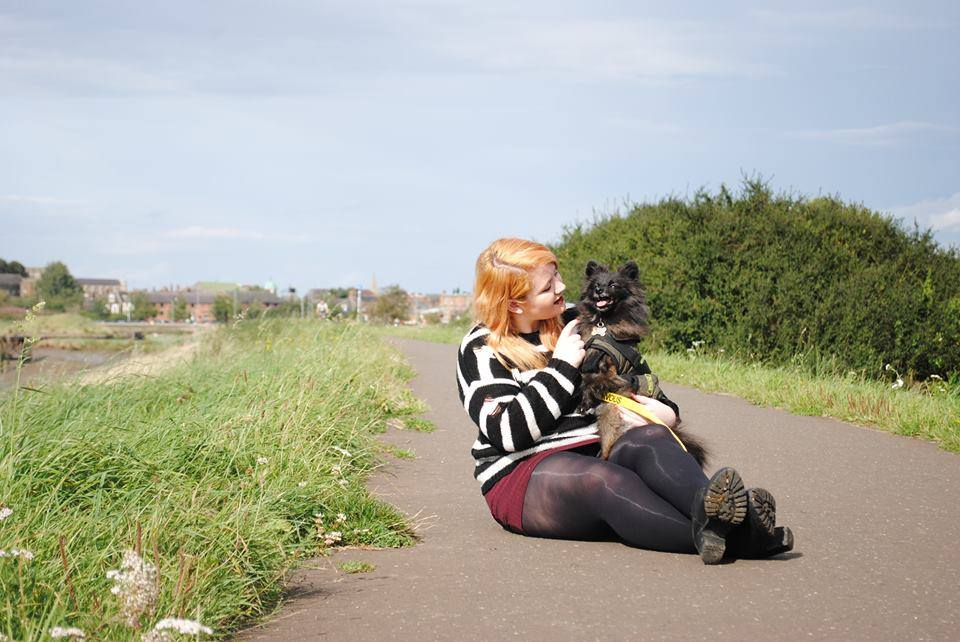 Charlotte and Sooty by River
